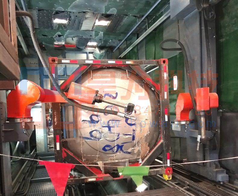 侧壁六轴涂装喷砂机器人
