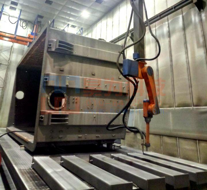 龙门十二轴喷砂机器人